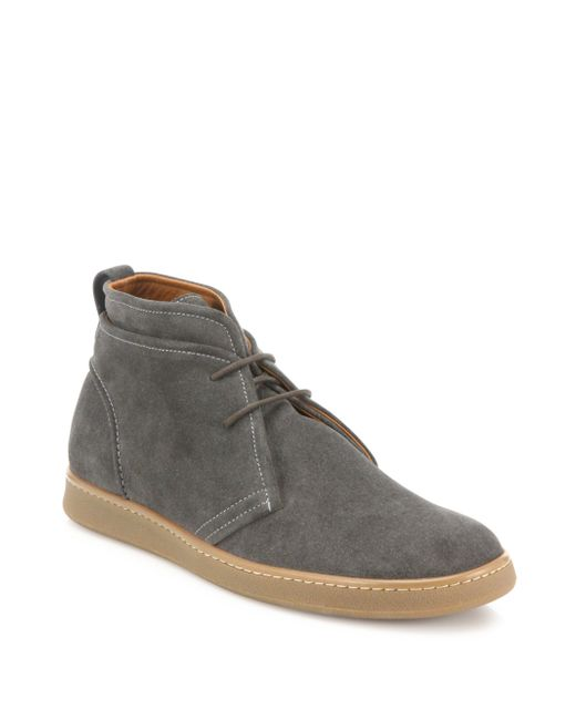 Saks Fifth Avenue | Gray Double Layer Suede Chukka Boots for Men | Lyst