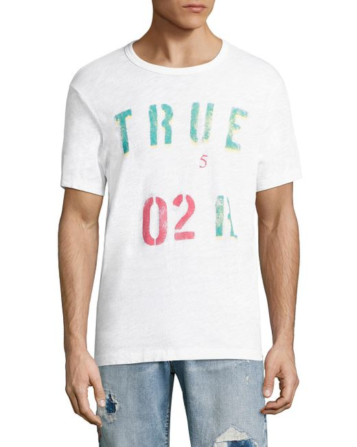 True Religion | White Indian Chief Tee for Men | Lyst