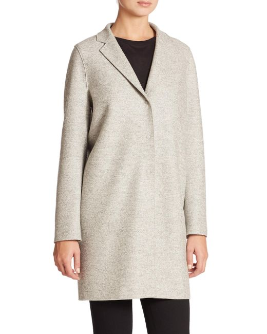 Harris Wharf London - Gray Wool Cocoon Coat - Lyst