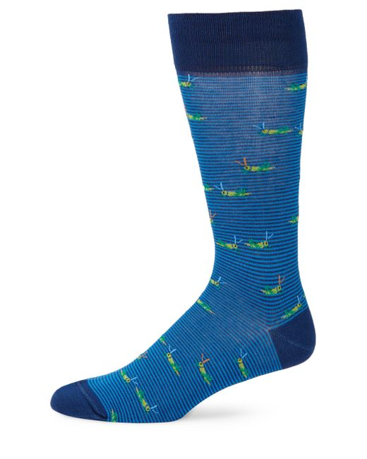 Saks Fifth Avenue - Blue Collection Striped Crickets Mid-calf Socks - Lyst