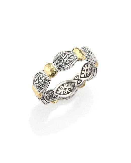 Konstantino - Metallic Aspasia 18k Yellow Gold & Sterling Silver Band Ring - Lyst