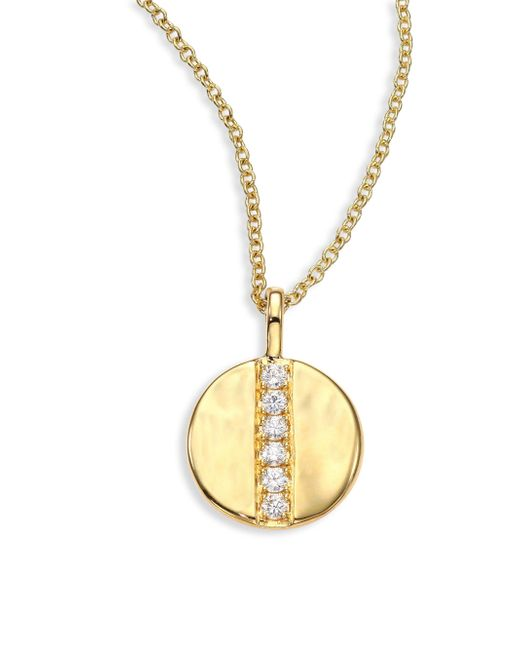 Ippolita | Metallic Glamazon Diamond & 18k Yellow Gold Mini Disc Pendant Necklace | Lyst