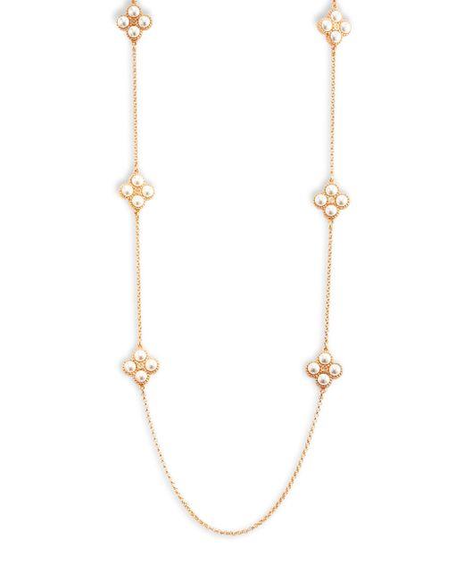 Tory Burch   Metallic Clover Pendant Necklace   Lyst