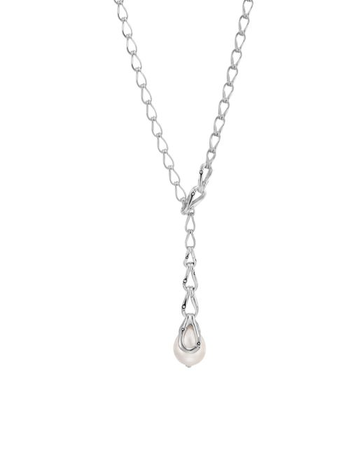 John Hardy - Metallic Bamboo 12-13mm White Pearl & Sterling Silver Necklace - Lyst