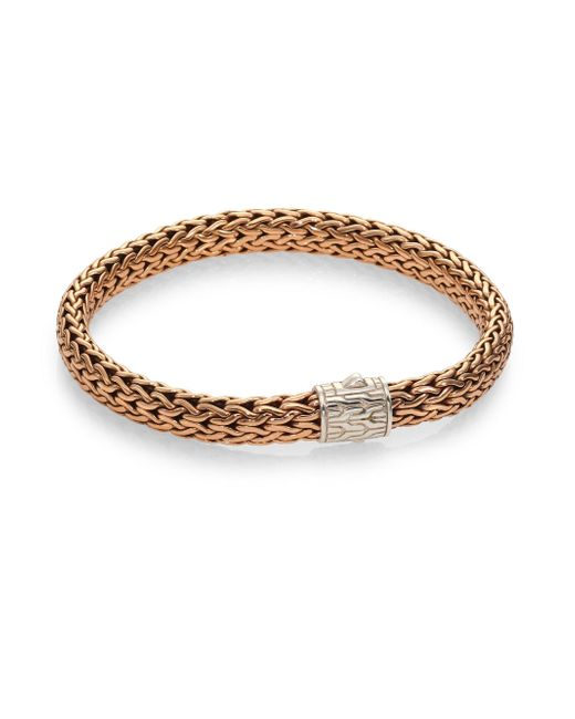John Hardy - Metallic Medium Bronze And Silver Chain Bracelet for Men - Lyst