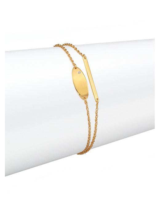 Jennifer Zeuner | Metallic Tilly Diamond Double-row Chain Bracelet | Lyst