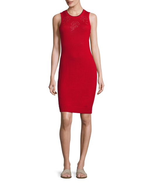 Rag & Bone   Red Adriana Pointelle-knit Dress   Lyst