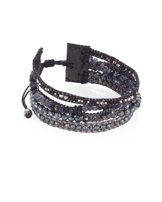 Chan Luu | Black Mix Beaded Multi-row Bracelet | Lyst