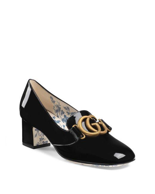 Gucci - Black Victoire Leather Pumps - Lyst