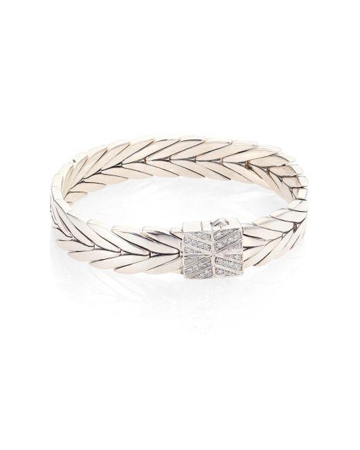 John Hardy | Metallic Modern Chain Diamond & Sterling Silver Bracelet | Lyst
