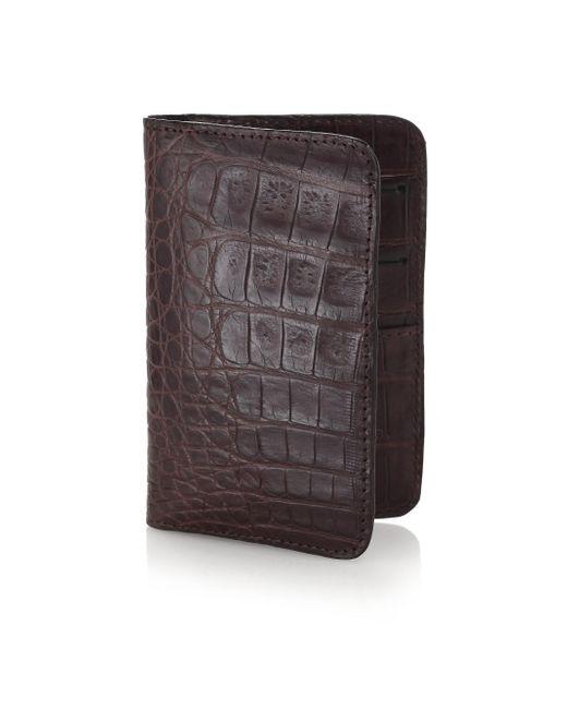 Santiago Gonzalez - Brown Crocodile Small Wallet for Men - Lyst