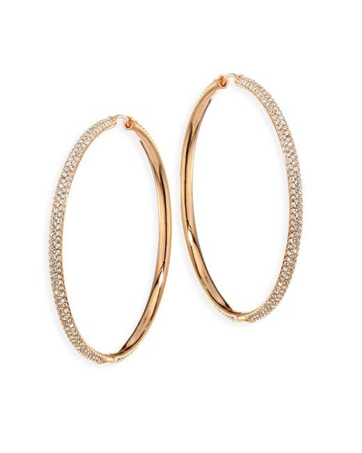 Adriana Orsini | Metallic Rose Gold-plated Hoop Earrings | Lyst