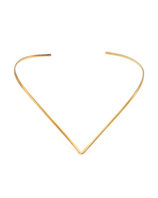 Jennifer Zeuner - Metallic Tilda V Choker Necklace - Lyst