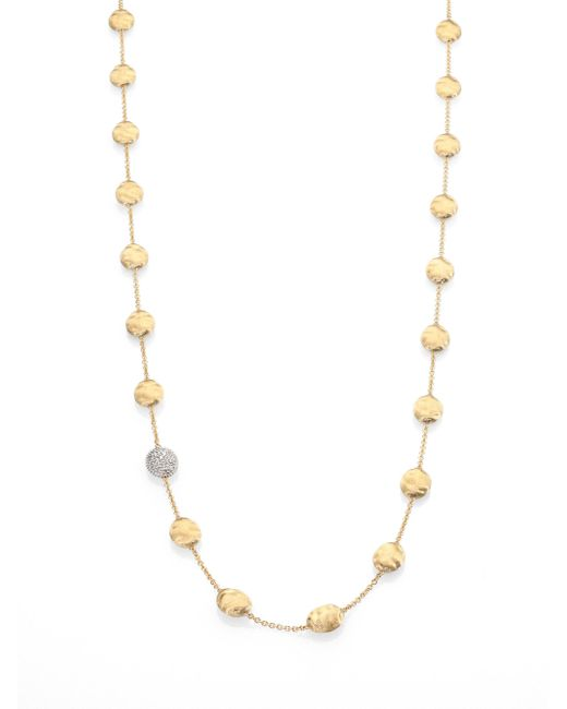 Marco Bicego - Metallic Siviglia Diamond & 18k Yellow Gold Station Necklace - Lyst