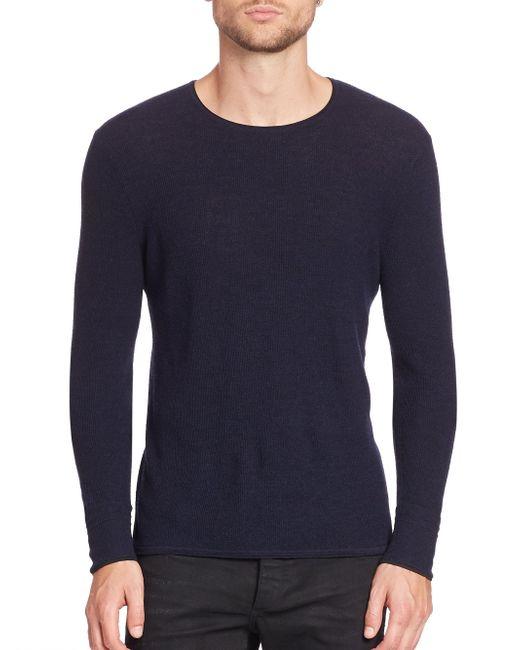 Rag & Bone - Blue Giles Crewneck Sweater for Men - Lyst