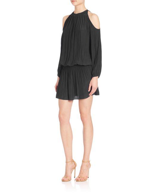 Ramy Brook | Black Lauren Cold-shoulder Dress | Lyst