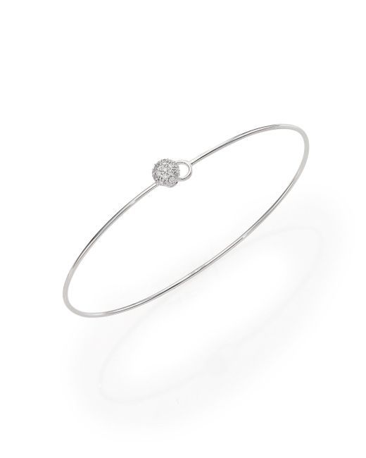 Phillips House | Metallic Affair Infinity Wire Love Always Diamond & 14k White Gold Bracelet | Lyst