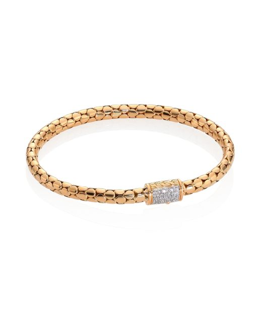 John Hardy - Metallic Dot Slim Diamond & 18k Yellow Gold Chain Bracelet - Lyst