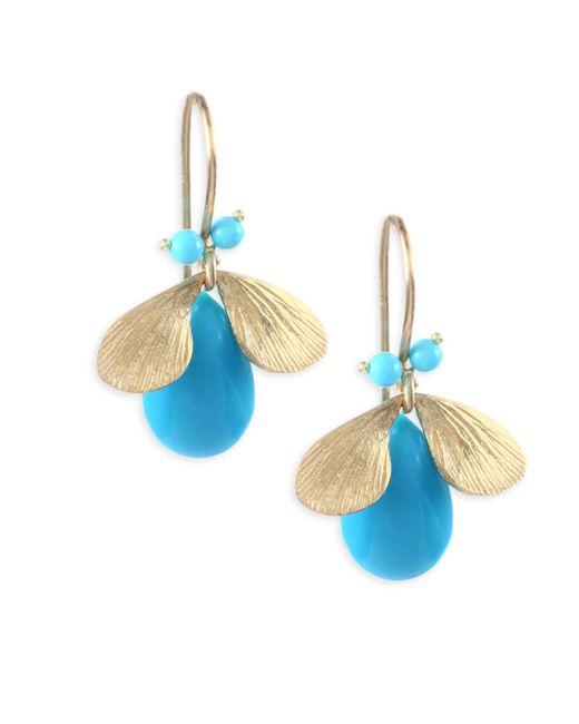 Annette Ferdinandsen | Multicolor Fauna Turquoise & 14k Yellow Gold Earrings | Lyst