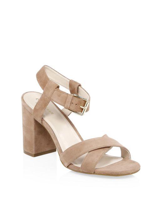 Cole Haan - Natural Kadi Suede Sandals - Lyst