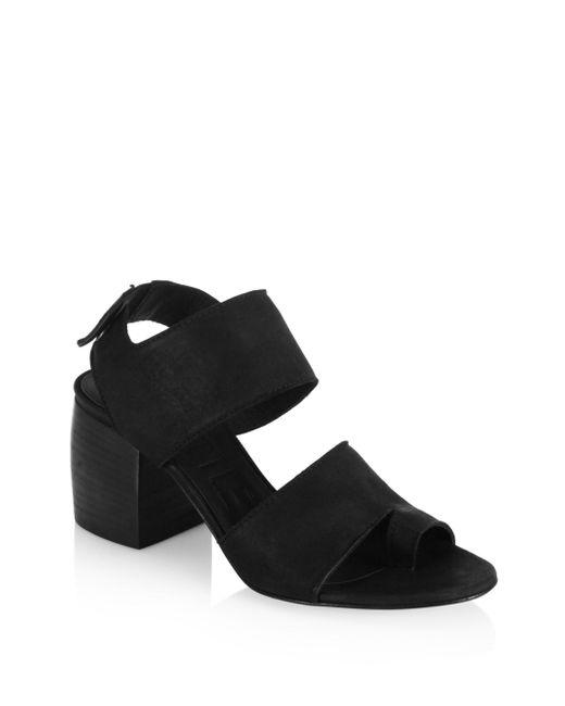 LD Tuttle - Black The Lace Suede Block-heel Slingbacks - Lyst