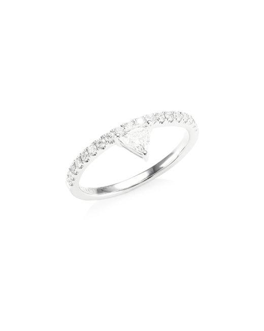 Anita Ko - Metallic Diamond White Gold Triangle Ring - Lyst