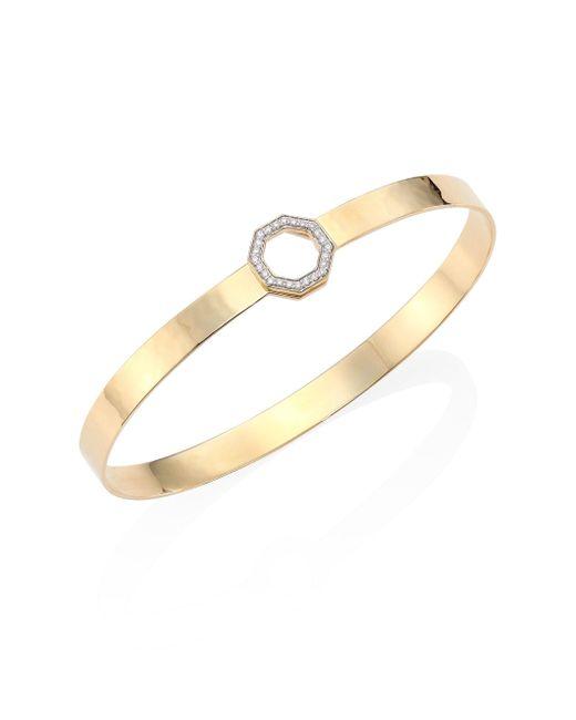 Phillips House - Metallic Hero Diamond & 14k Yellow Gold Bangle Bracelet - Lyst