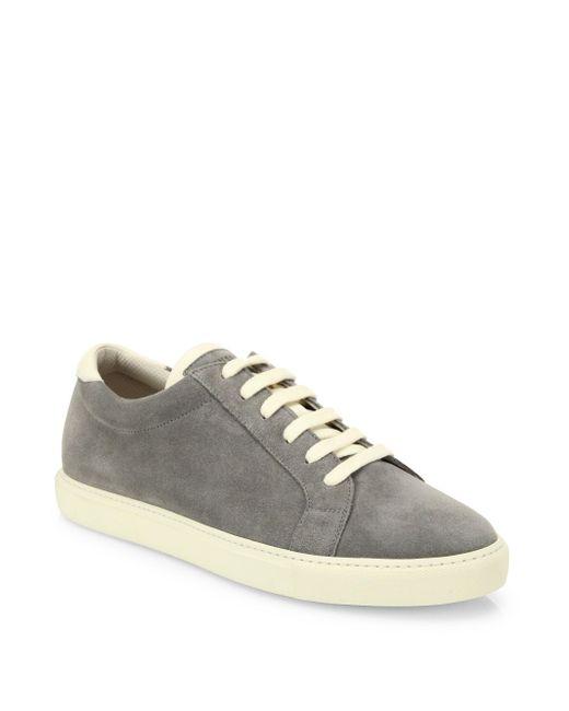 Brunello Cucinelli - Gray Suede Sneakers - Lyst