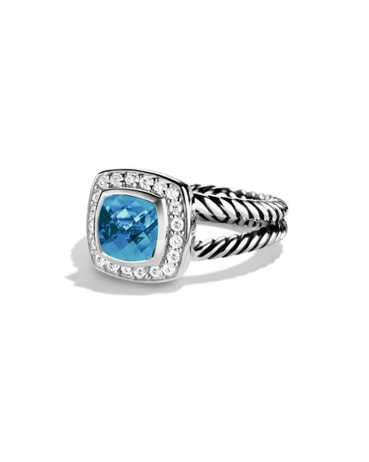 David Yurman - Blue Albion Ring With Diamonds - Lyst