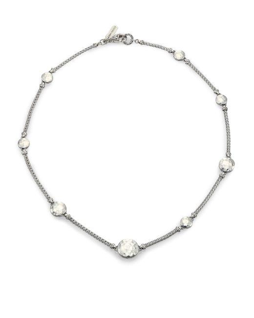 John Hardy | Metallic Palu Sterling Silver Sautoir Station Necklace/18 | Lyst