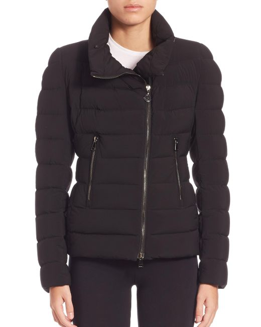 Moncler | Black Antigone Quilted Shearling-Trimmed Down Jacket  | Lyst