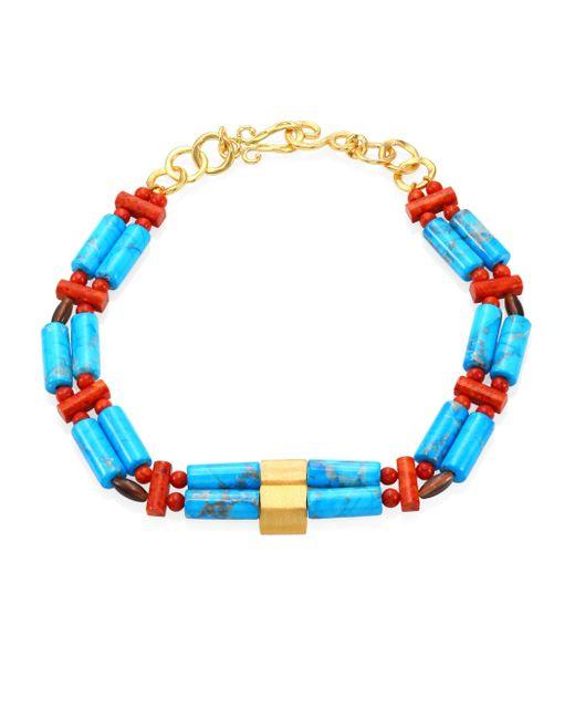 John Hardy | Blue Bonsai Semi-precious Multi-stone Necklace | Lyst