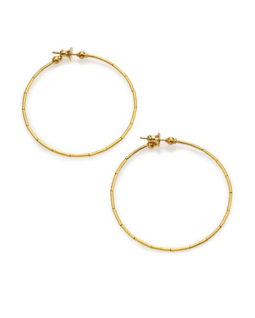 Gurhan   Metallic Rain 24k Yellow Gold Hoop Earrings/2   Lyst