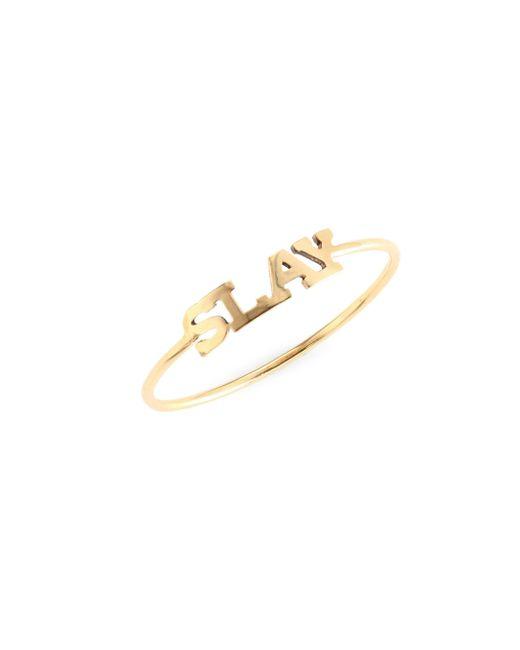 Zoe Chicco - Metallic Slay 14k Yellow Gold Ring - Lyst