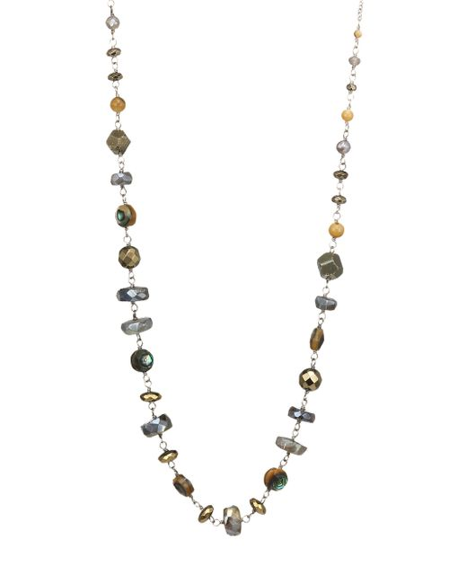 Chan Luu - Metallic Abalone Mix Adjustable Necklace - Lyst