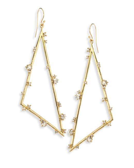 Alexis Bittar | Metallic Elements Crystal Triangle Earrings | Lyst