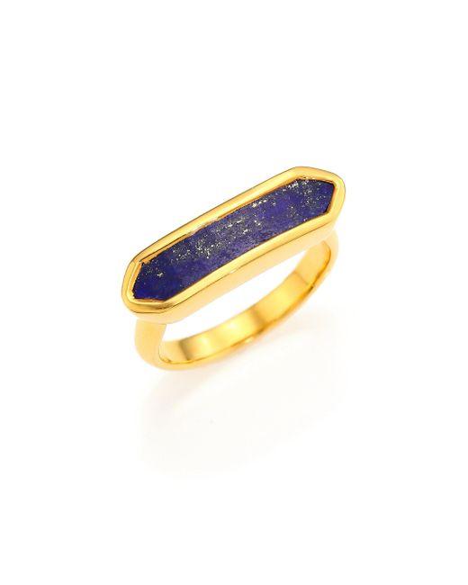Monica Vinader | Blue Baja Lapis Ring | Lyst