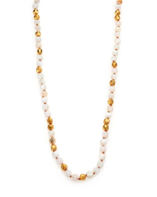 Chan Luu - Metallic Mother-of-pearl & Opal Long Beaded Strand Necklace - Lyst