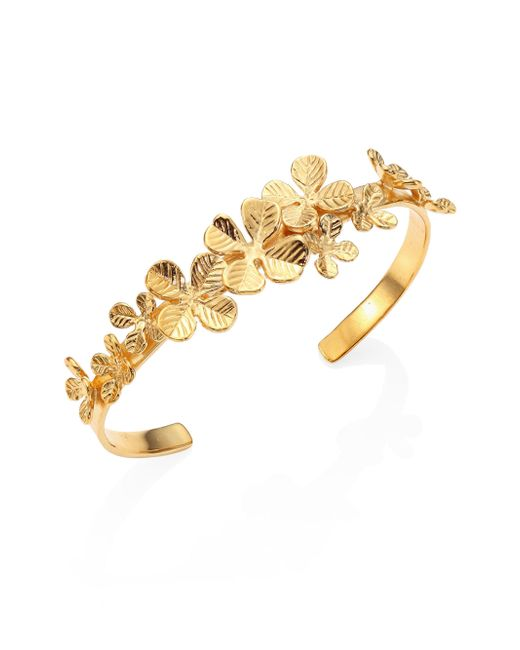 Aurelie Bidermann - Metallic Tamar Clover Bangle Bracelet - Lyst
