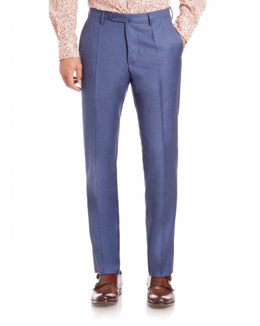 Incotex - Blue Men's Benson Sharkskin Dress Pants - Light Grey for Men - Lyst