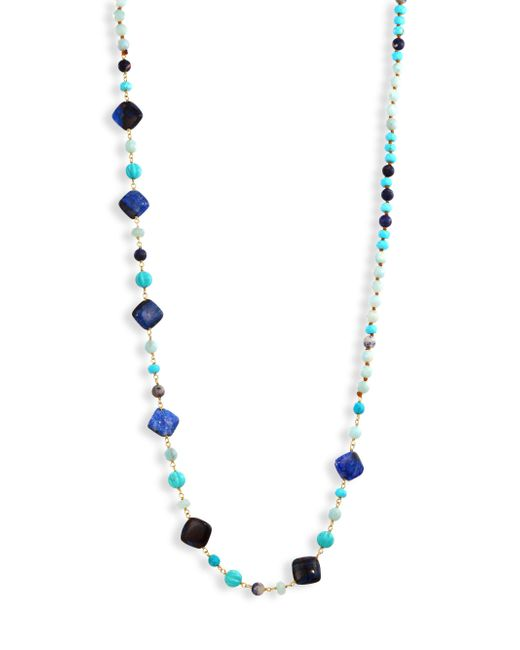 Chan Luu | Blue Mix Beaded Strand Necklace | Lyst