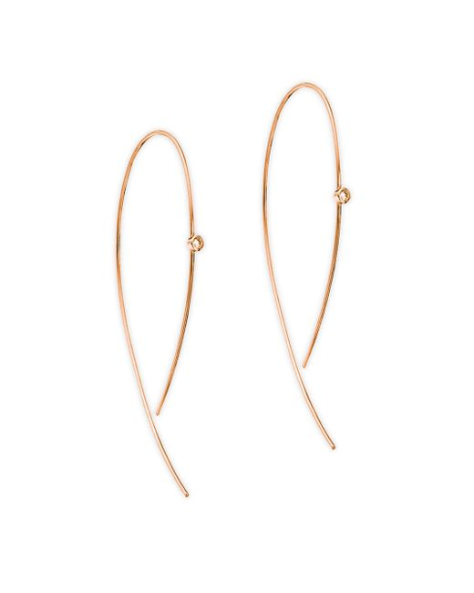 Lana Jewelry - Metallic Diamond & 14k Rose Gold Hoop Earrings - Lyst