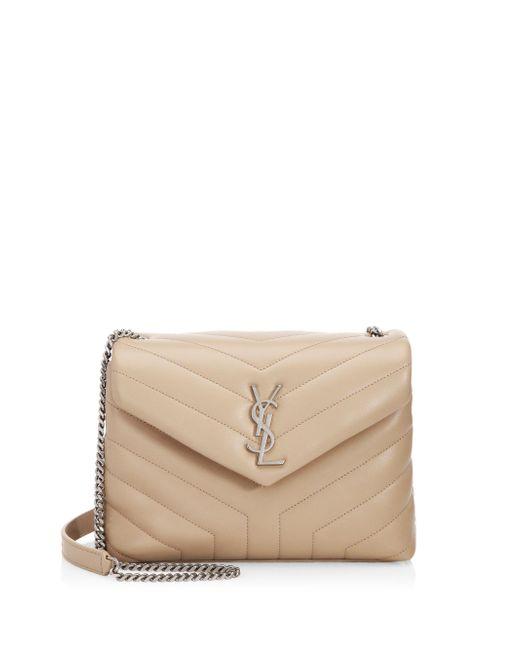 Saint Laurent - Natural Small Lou Lou Leather Chain Shoulder Bag - Lyst