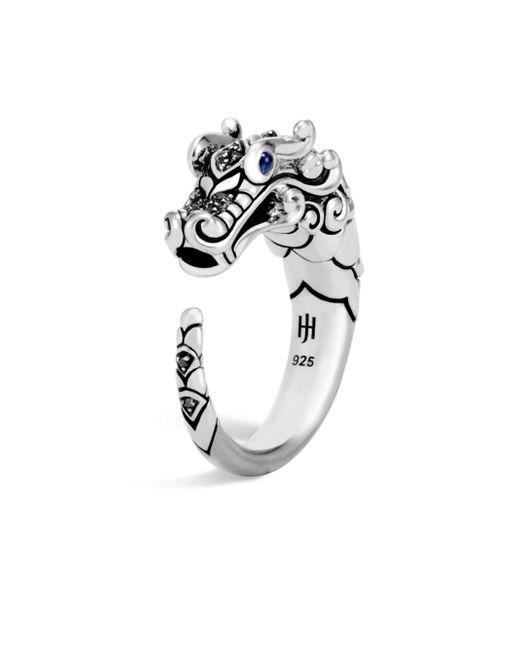 John Hardy - Metallic Legends Naga Sapphire & Black Spinel Ring - Lyst