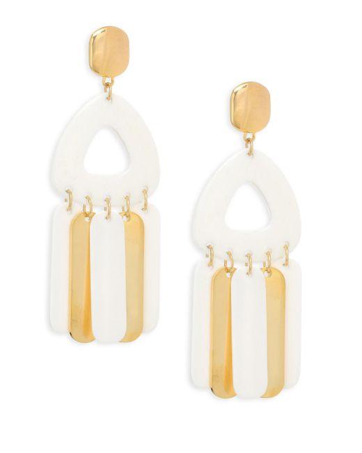 Nest - White Bone Dangle Earrings - Lyst