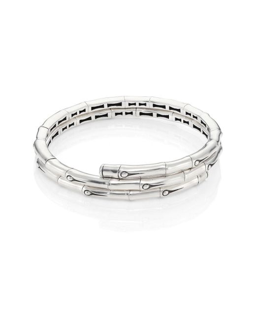 John Hardy | Metallic Bamboo Small Sterling Silver Coil Bracelet | Lyst