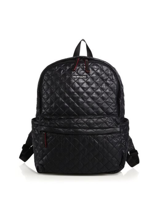 MZ Wallace | Black Metro Quilted Nylon Backpack | Lyst