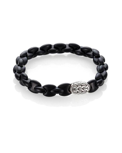 John Hardy - Batu Classic Black Agate & Sterling Silver Bracelet for Men - Lyst