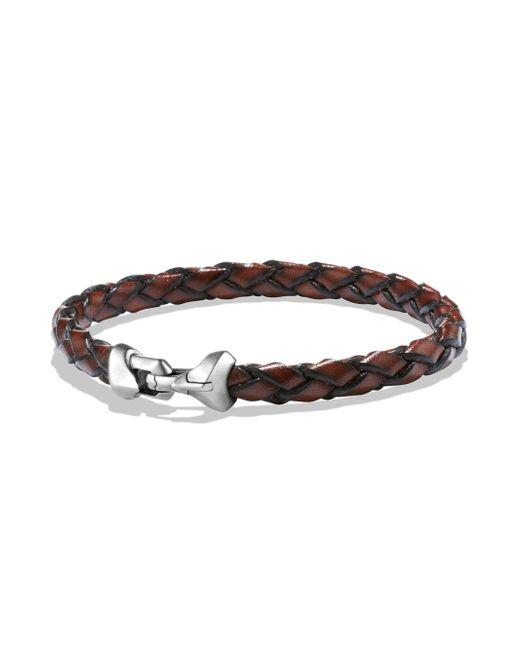 David Yurman - Brown Sterling Silver Braided Bracelet for Men - Lyst