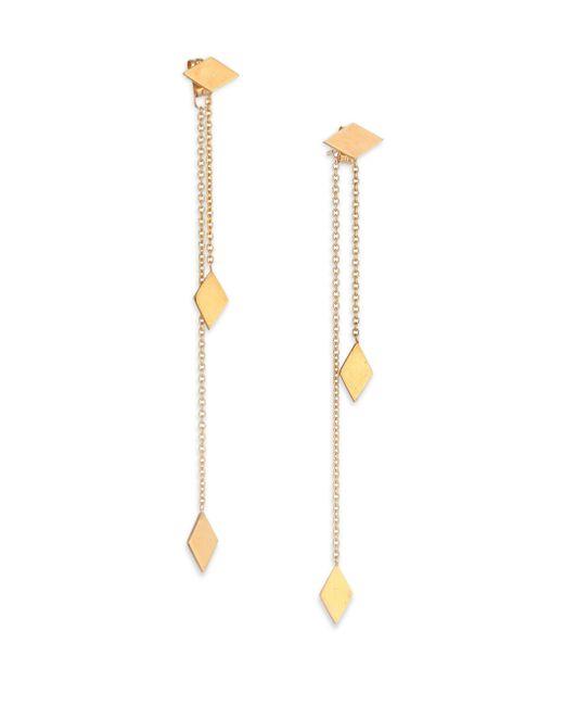 Zoe Chicco - Metallic 14k Yellow Gold Kite Ear Jacket & Drop Earrings Set - Lyst